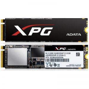 512GB NVMe M.2 Adata XPG SX8000 SSD Drive