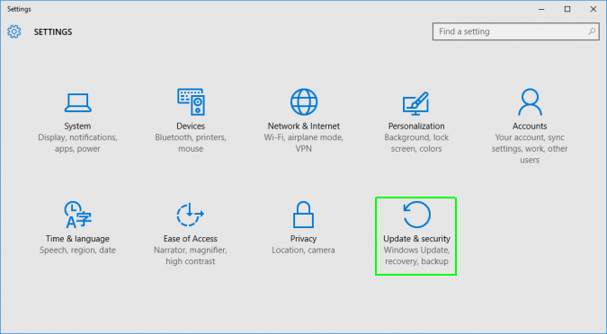 Windows 10 reset procedure step 2