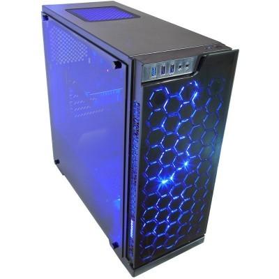 Contour Sapphire ATX RGB LED FAN case Blue angle