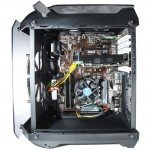 Contour Helios Red LED Fan ATX Tempered Glass Case side view