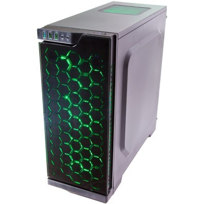 Contour Sapphire ATX RGB LED FAN case green angle