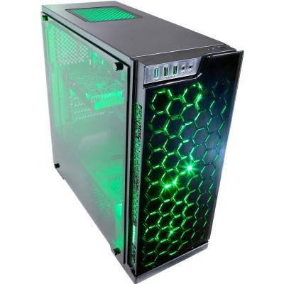 Contour Sapphire ATX RGB LED FAN case green