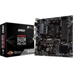 MSI B450 PRO-VDH AMD Ryzen Motherboard Boxshot