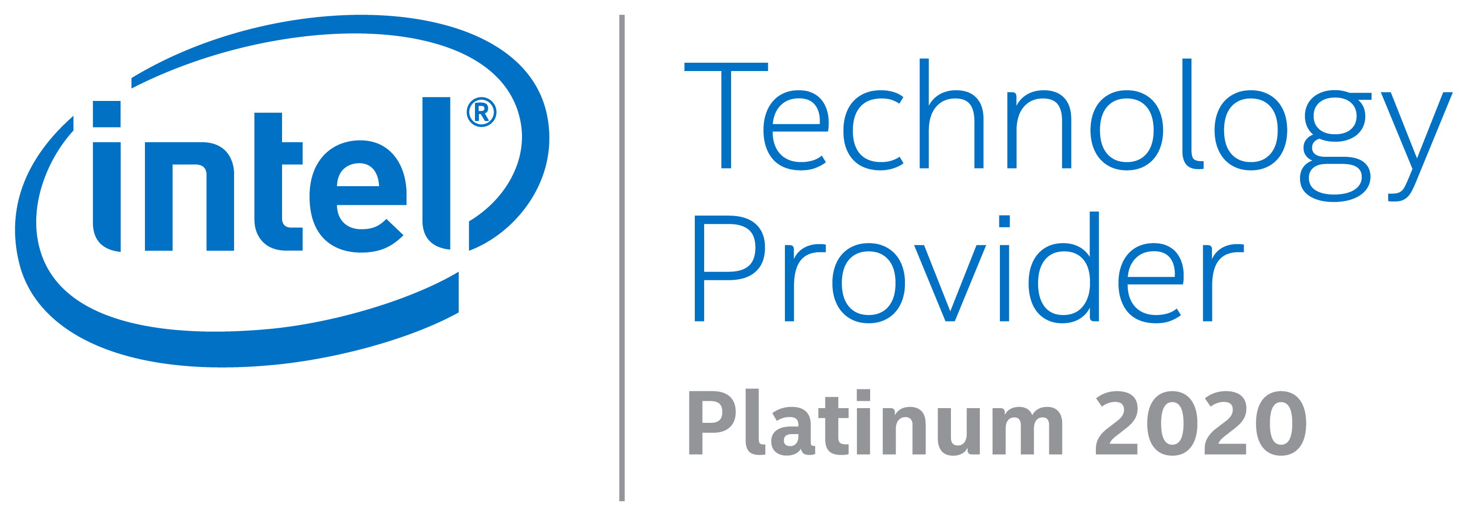 Intel Platinum Partner 2020 Badge